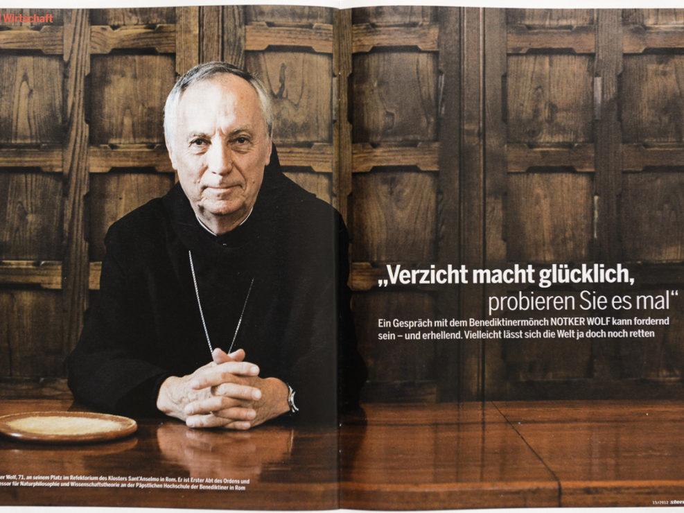 Notker Wolf, Abtprimas der Benediktiner in Rom, für Stern.