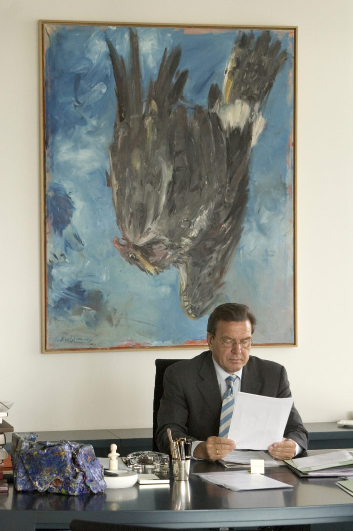 Bundeskanzler Gerhard Schröder Wahlkampf 2005