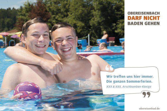 """Kampagne """"Obereisenbach darf nicht baden gehen"""""""